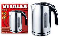 Чайник электрический 1,7 л Vitalex VT-2012 электрочайник для дома, нержавеющая сталь ( Виталекс )