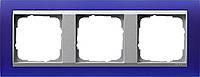 Установочная рамка 3-местная алюминий Gira Event Opaque Синий (021393)