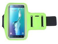 Спортивный чехол для телефона 5,7 дюймов с креплением на руку. Салатный