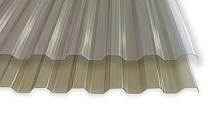 Шифер ПВХ - Трапеція БРОНЗОВИЙ (Salux WHR (усилений) 70/18 мм, 1.8*0.9 м)