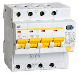 IEK Дифференциальный автомат АД14 4P 25А 300мА (MAD10-4-025-C-300)