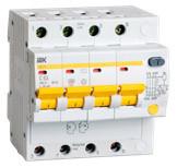IEK Дифференциальный автомат АД14 4P 50А 300мА (MAD10-4-050-C-300)