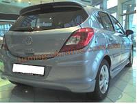 Юбка на задний бампер под покраску на Opel Corsa D 2006-2014