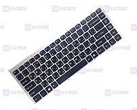 Оригинальная клавиатура для ноутбука Sony Vaio VGN-FW series, ru, black, серебристая рамка