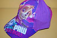 Бейсболка Щенячий патруль фиолетовая Код 16217 Размеры 52, 54 см
