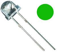Яркий светодиод 4,8 мм зеленый