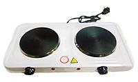 Электроплита дисковая Domotec HP-200 A-1, плита 2-конфорочная электрическая!Опт
