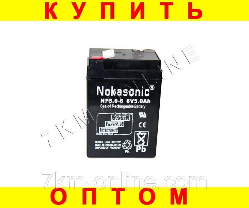 """Аккумулятор NOKASONIK 6 v-5.0 ah 720 gm!Опт - Магазин """"Налетай-ка"""" в Одессе"""