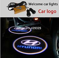 LED логотип в двери автомобиля hyundai Дверной логотип марки авто