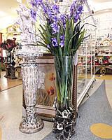 Ваза напольная Серебряные цветы