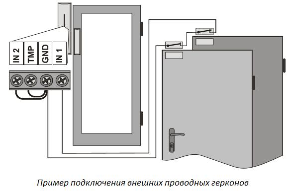 Подключение герконов Ja-150m