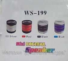 Беспроводная портативная колонка WS-199 Mini digital speaker Bluetooth!Опт, фото 2