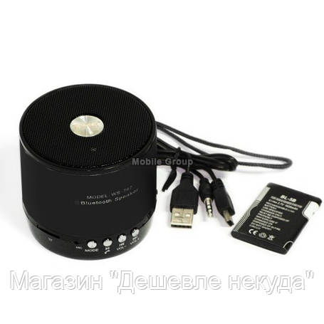 Беспроводная портативная колонка WSTER WS-767 Wireless speaker Bluetooth!Опт, фото 2