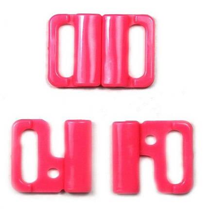 Застежка для куп-ка пл.розовая, шир. 1,5 см., фото 2