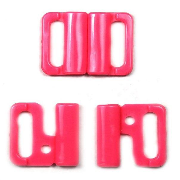 Застежка для куп-ка пл.розовая, шир. 1,5 см.
