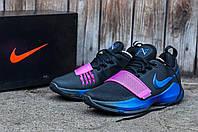 Баскетбольные кроссовки Nike PG 1 (Paul George) 🔥 (Найк Пол Джордж) черно-синие