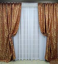 """Комплект штор """"Неаполь"""" Янтарно-коричневый, фото 3"""