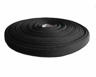 Тесьма брючная черная (1,5 см., 50 м., Украина)