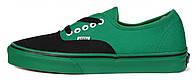 Мужские кеды Vans (ванс) зеленые