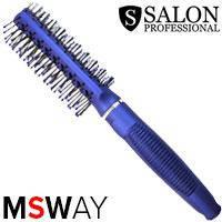 Salon Prof. Расческа массажная синяя B 9541 скелет туннельная пластик, фото 2