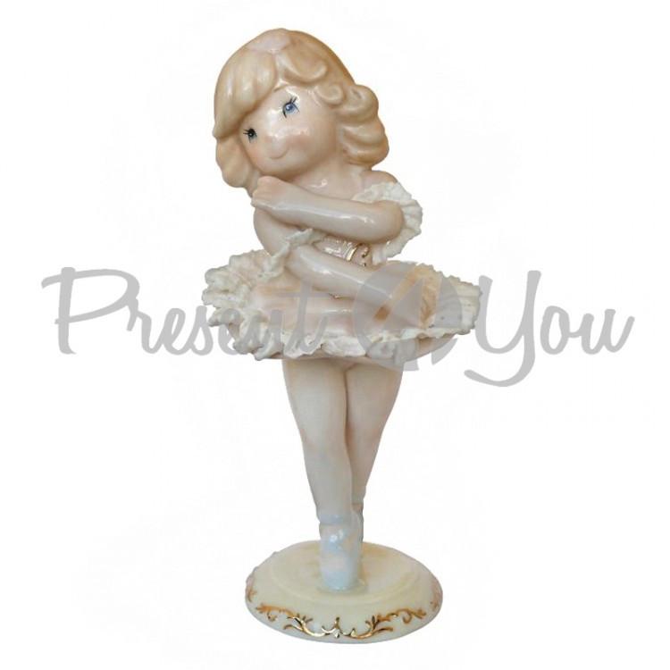 Фигурка статуэтка  фарфоровая колекционная «Маленькая балерина Мари» h-23см.