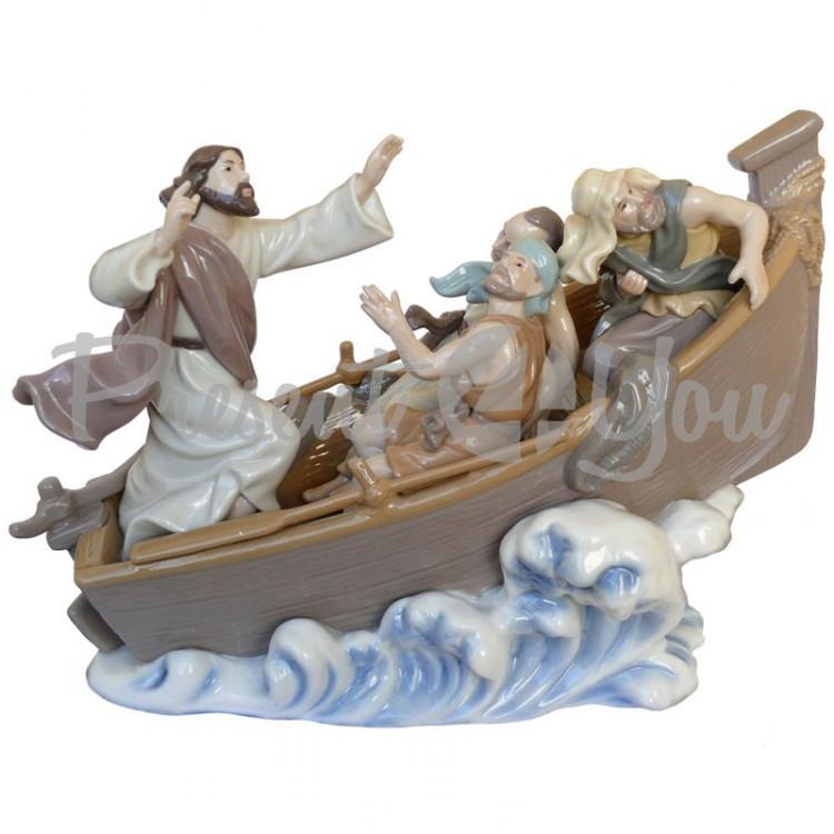 Фигурка статуэтка  фарфоровая колекционная «Лодка спасения» 22х29х13,5 см.