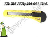 Нож пистолетный пластиковый обрезной Favorit 18 мм