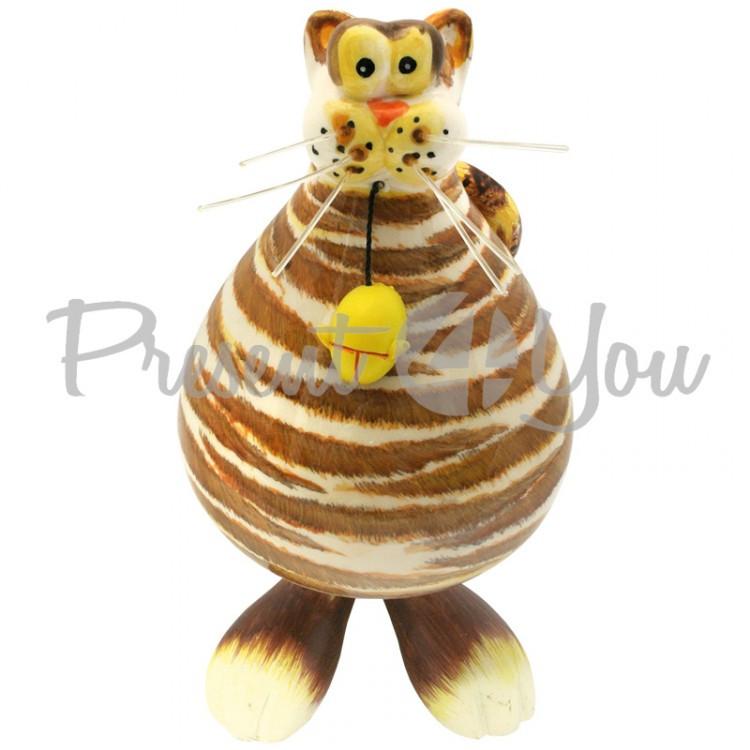 Фигурка на пружинке «Кот с мишкой» h-17 см.