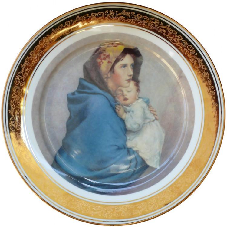 Тарелка декоративная «Мать с ребенком» d-33 см