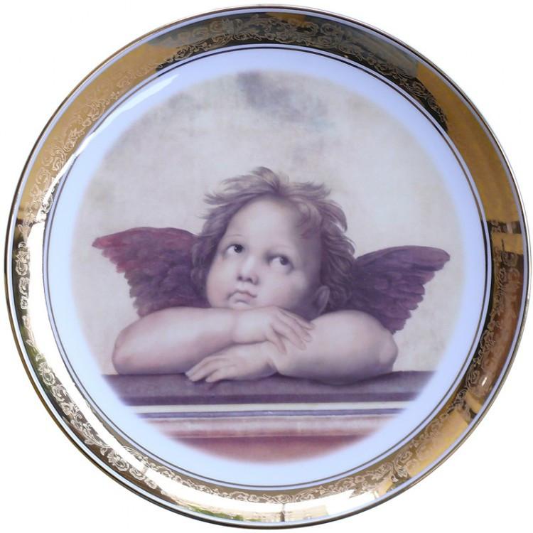 Тарелка декоративная «Ангелочек» d-33 см.