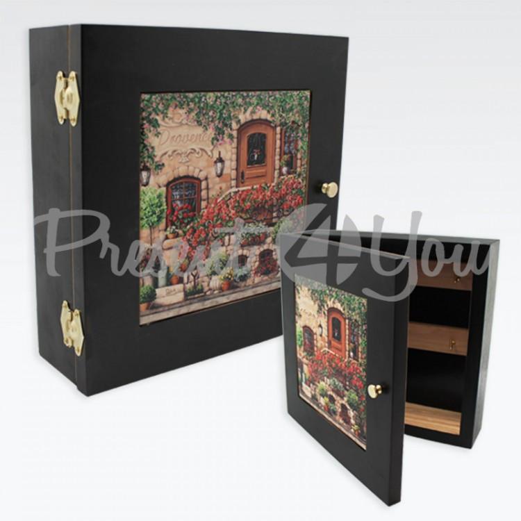 Ключница с дверками «Прованс», 7,5х23х23 см (263-9305B)