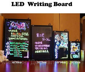Неоновая панель LED WRITING BOARD 50*70!Опт, фото 2