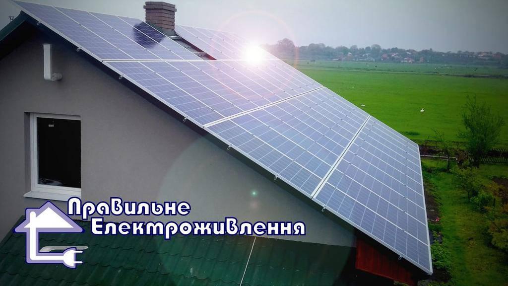 Мережева сонячна електростанція 10 кВт м. Рівне