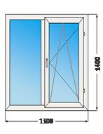 Стандартное двухстворчатое окно
