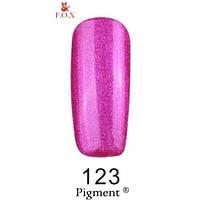 Фиолетовый гель-лак с микроблестками F.O.X Pigment 123 (6 мл)
