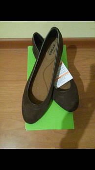 Замшевые балетки женские Crocs 8 размер оригинал из США