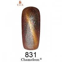 Гель-лак коричнево-золотой F.O.X Chameleon 831 (12 мл)