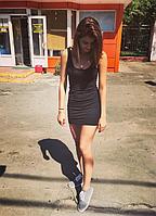 Модное летнее платье майка