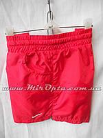 Шорты женские плащёвка Nike красные купить оптом со склада