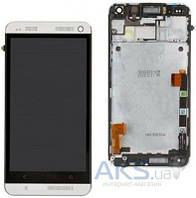 Дисплей (экран) для телефона HTC One M7 801e + Touchscreen with frame Original White