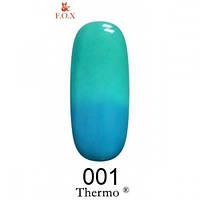 Бирюзово-голубой гель-лак F.O.X Thermo 001 (12 мл)