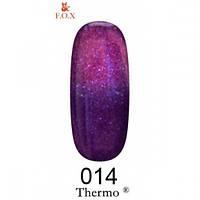 Фиолетово-сиреневый гель-лак с шиммером F.O.X Thermo 014 (6 мл)