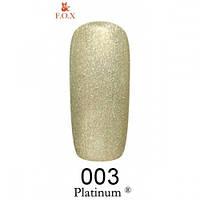 Гель-лак F.O.X Platinum светло-зеленый с шиммером 003 (6 мл)
