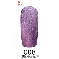 Фиолетовый гель-лак с шиммером F.O.X Platinum 008 (12 мл)