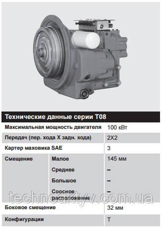 Серия T08 – 60 – 100 кВт (80 – 135 л.с.)