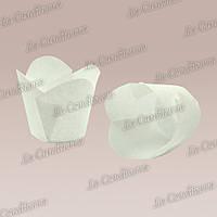 """Бумажные формочки для кексов """"Фиалка"""", белые (150 шт., d=35 мм, высота бортика=35/45 мм)"""