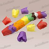 """Паперові формочки для кексів """"Фіалка"""", зелені (150 шт., d=50 мм, висота бортика=60/70 мм), фото 2"""