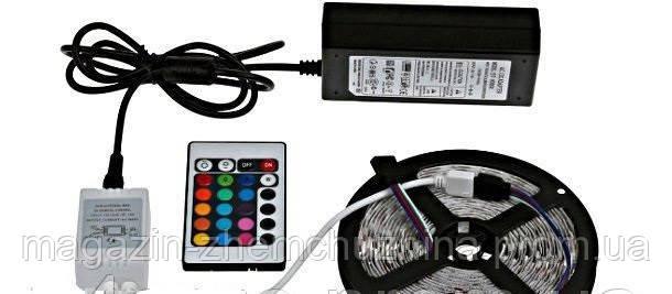 Светодиодная лента комплект 5050 RGB 5m complect 12v!Опт, фото 2