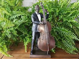 Коллекционная статуэтка Veronese Басист, серия Джазовые музыканты 76222A4