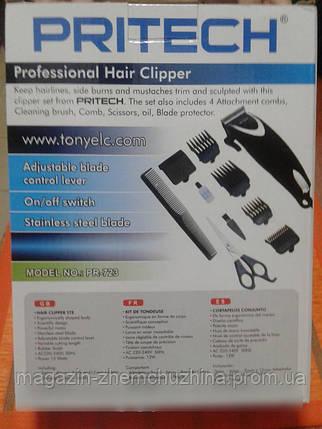 Сетевая машинка для стрижки волос Pritech PR-723, триммер электрический!Опт, фото 2